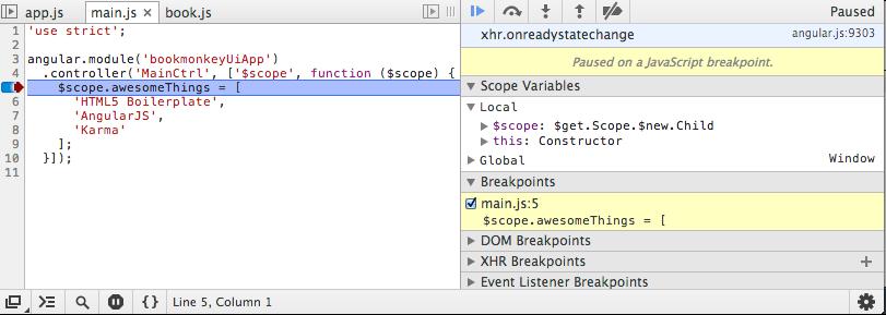 Angular DE → Debugging mit WebStorm und Chrome